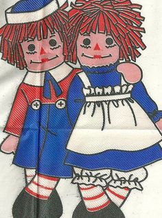 McCall's 7749 Raggedy Ann and Andy Iron On Transfer.