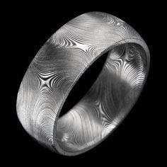 Essentials Starlight Damascus Stainless Steel Ring