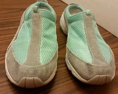 #EasySpirit #Womens's Size #7.5 (M) #Grey #green #leather synthetic #mules shoes