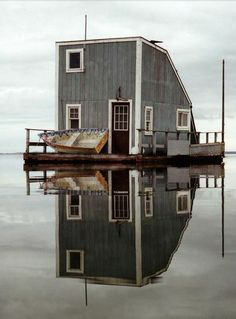 Wooden House on the water.