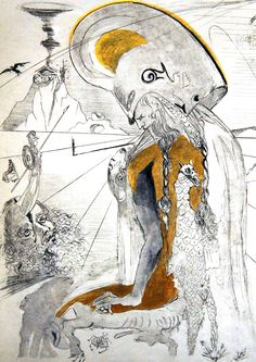 Athene 1963 by Salvador Dali - Etching And Drypoint