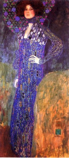 Gustav Klimt-Floge portrait-different colorway