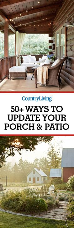 Spend time outside this summer updating your porch and patio. Our porch decorating inspiration will help you create a relaxing escape.