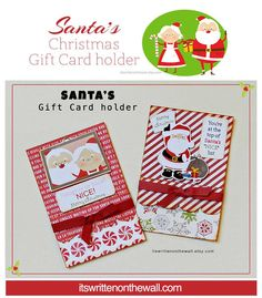 its written on the wall santas christmas gift card holder perfect for teachers