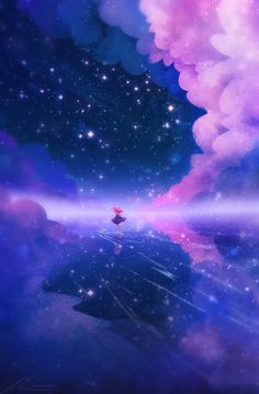 Endless Sky Art Print by zandraart - X-Small Cloud Wallpaper, Pastel Wallpaper, Galaxy Wallpaper, Wallpaper Backgrounds, Iphone Wallpaper, Transparent Wallpaper, Aesthetic Backgrounds, Aesthetic Wallpapers, Fantasy Landscape