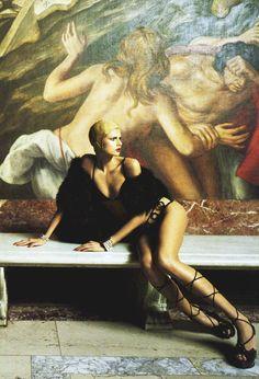 "Hana Soukupova for Vogue Italia June 2004 ""Iron Butterflies"" By Steven Mesel"