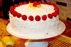 Raspberry Lemon Cake Recipe with Coconut