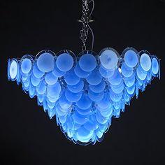 VISTOSI Cascading glass discs chandelier