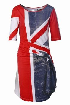 Religion Union jack jersey dress Red - House of Fraser Flag Dress, Dress Up, Union Jack Dress, Religion Clothing, What To Wear, Dresses For Work, My Style, Outfits, Clothes