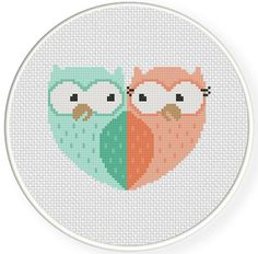 FREE for March 22nd 1015 Only - Owl Sweethearts Cross Stitch Pattern
