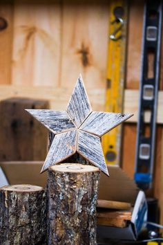 This beautiful wooden star Christmas tree topper is perfect way to top off your beautiful tree! Its made from naturally gray weathered reclaimed barn wood and brings the charm of an old Kentucky barn to your living room. We hand cut each piece of wood to create these very unique decorations. The back has a leather circle attached in order to place atop your Christmas tree. The leather came from a local Amish leather workers scrap pile. Each star has its own unique character because of the…
