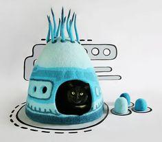 Девушка создает потрясающие войлочные домики для кошек (10 фото)