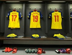 #changing #room #jersey #Arsenal