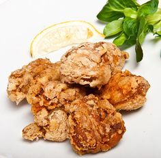 Chicken karaage made without soy sauce etc. (gluten-free, soy-free, etc). Still tasty!
