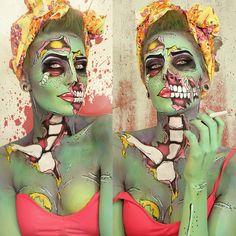 Stephanie Lala #comic #makeup #zombie omg I love this