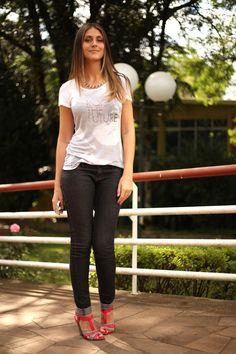 Ellus - Jeans - T'shirt - pink 5