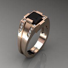 Men ring, Square initial signet gold ring, Men gold signet ...