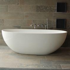Vrijstaand bad van solid surface met Italiaans design - LUVA1800M uit de Vasca…