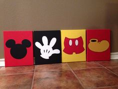 Mickey Mouse Hand Painted Canvas mickey shorts by Mickey Mouse Room, Mickey Mouse Classroom, Fiesta Mickey Mouse, Baby Mickey, Mickey Mouse Bathroom, Mickey Mouse Crafts, Mickey Head, Minnie Mouse, Minnie Bow