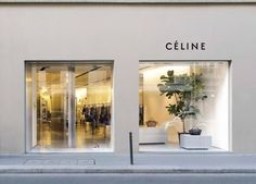 The Celine boutique at Rue de Grenelle opened in 2011 offering a store space of 200 square meters. Information on Celine store at Rue de Grenelle in Paris. Retail Interior, Cafe Interior, Interior And Exterior, Retail Facade, Shop Facade, Showroom Design, Shop Interior Design, Commercial Design, Commercial Interiors