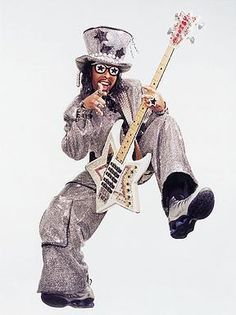 Bootsy Collins  ( The JB's , Funkadelic, Bootsy's Rubber Band, Parliament ) bass payer
