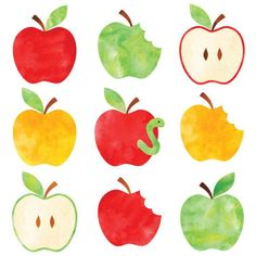 Watercolor Apple Clip Art
