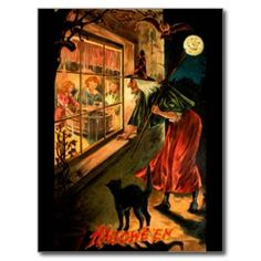 Vintage Halloween Illustration at DuckDuckGo Retro Halloween, Vintage Halloween Cards, Halloween Facts, Halloween Prints, Halloween Pictures, Vintage Holiday, Spooky Halloween, Vintage Cards, Vintage Postcards