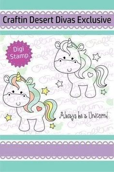 Be A Unicorn Digital Stamp - Craftin Desert Divas Paper Embroidery, Machine Embroidery Applique, Embroidery Patterns, Line Art Images, Simply Stamps, Business Logo Design, Digi Stamps, Unicorn Party, Creations