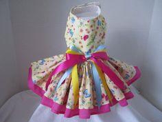 Dog Dress  XS   Spring Butterflies    By by NinasCoutureCloset, $30.00