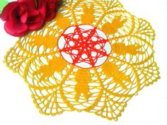 Easter Crochet Doily  Easter Table Decoration  by CrochetMiracles, $14.90
