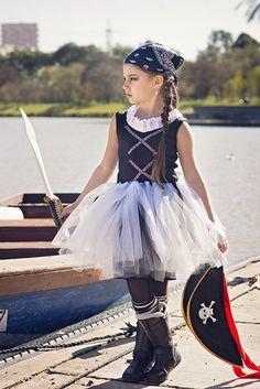 Girls Pirate Tutu HALLOWEEN Pirate Costume Girls Pirate by Bubale1
