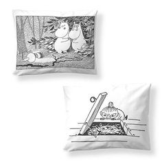Moominsummer Madness pillow cover 2-pack by Finlayson - The Official Moomin Shop