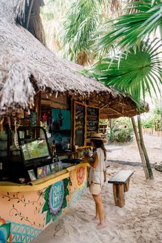 Getting lost in Tulum: An insta worthy guide to Tulum Surf Shack, Beach Shack, Beach Cafe, Surf Cafe, Outdoor Restaurant, Tropical, Beach Cottages, Island Life, Hawaii