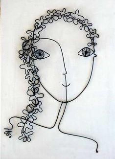 Muchacha de flor por WireDreams en Etsy