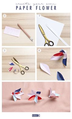 Make these simple and pretty paper flowers using our template