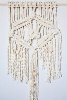 Creamy Dreamy Macrame Wall Hanging by LisaMTerry on Etsy