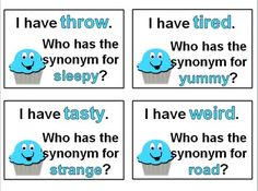 Please enjoy this Sweet Synonym I Have, Who Has freebie! Follow my page and check out the rest of my products.