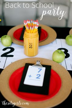 Great back to school party ideas! Love the school themed decor, and the cereal bar. There are also free printables here! Great back to school party ideas! Love the school themed decor, and the cereal bar. There are also free printables here!