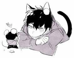 Osomatsu-san- Karamatsu mouse and Ichimatsu neko #Anime「♡」