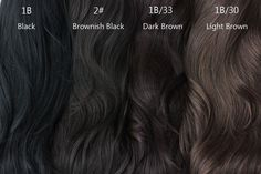 beautiful dark brown hair color