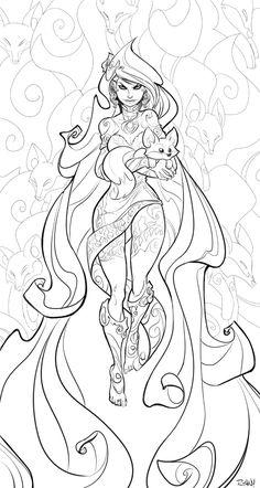 Fox Queen by frogbillgo.deviantart.com on @deviantART