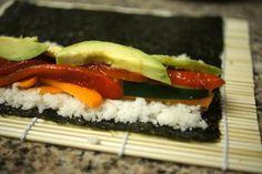 Sushi with jicama rice