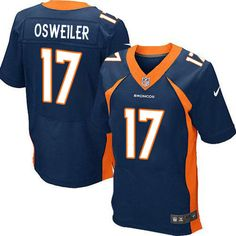 repjerseys.ru Men Denver Broncos #17 Osweiler Navy Blue Elite Stitched Jersey