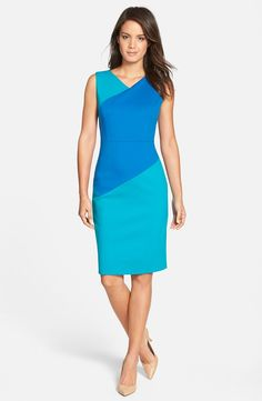 'Sunmosa' Colorblock Ponte Dress