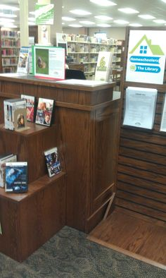 Excelsior Springs branch  Homeschoolers @ the Library info prominently displayed. Section is a little busy though.