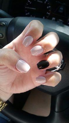 Short Coffin nails.  Opi dont bossa nova me around and Essie licorice