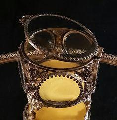 6 Beveled Sides Jewelry Casket Filigree Art by OldGLoriEstateSale