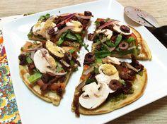 Gluten-Free Quinoa Pizza Crust and Vegan Pizza