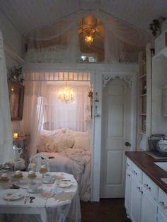 Tea for Two in my sweet retreat aka Tonita's tiny house.