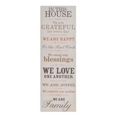 Alicia loved our In This House canvas and featured it on her blog! #kirklands #bloglovin
